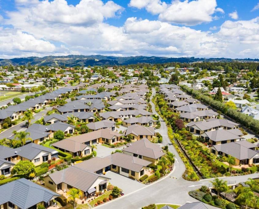 Aerial view of Retirement Village-The Palms Lifestyle Village Whangarei