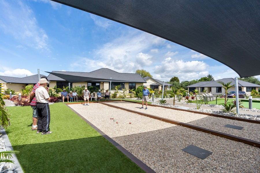 playing pentanque-Retirement Community-The Palms Lifestyle Village Whangarei