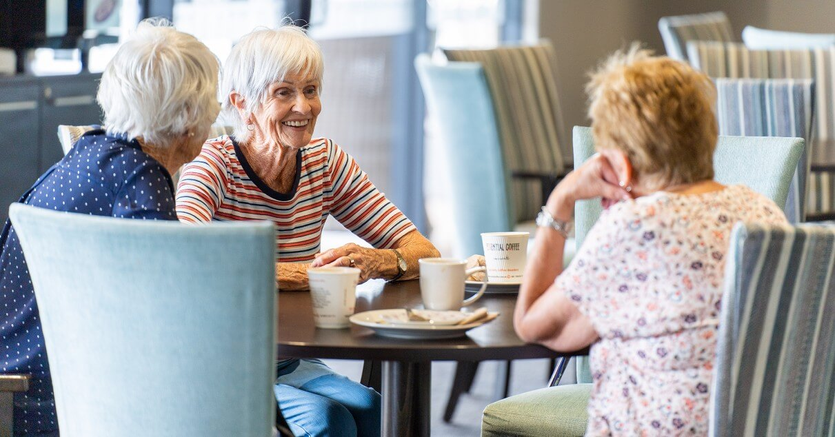 morning tea with friends-Retirement Community-The Palms Lifestyle Village Whangarei